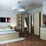 Угловой шкаф для стильной спальни
