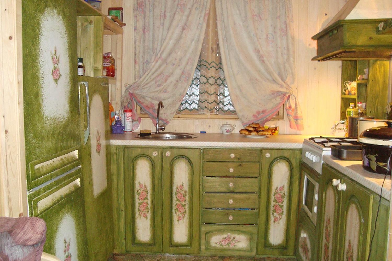 кухонный гарнитур реставрировать дома своими руками