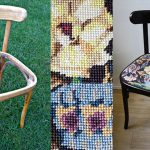 Венский стул после реставрации с сиденьем вышитым вручную