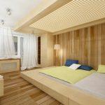Прямоугольная кровать-подиум