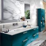 Бирюзовая мебель для ванной