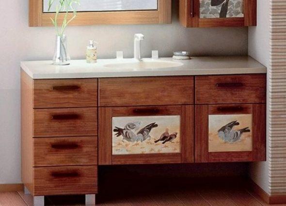 Декор мебели для ванной комнаты