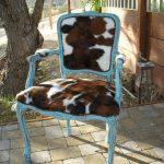 Декор стула мягкой пушистой тканью