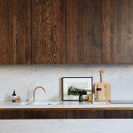 Деревянная кухня в стиле минимализм