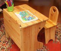 Детские стол и стул