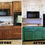 Двухцветный вариант окрашивания кухни