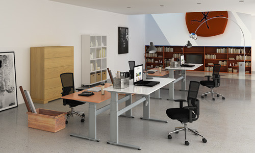 Эргономичный стол для работы стоя и сидя
