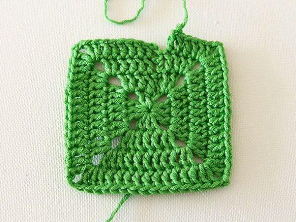 Готовый квадрат зеленого цвета