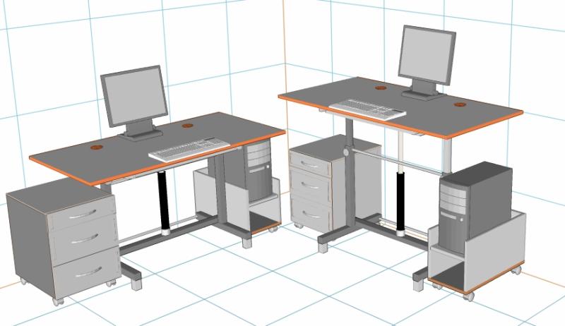 Стол компьютерный эргономичный своими руками 1