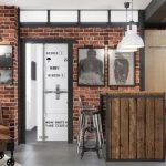 Интерьер гостиной в стиле лофт с самодельной мебелью