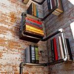 Книжные полочки из трубы