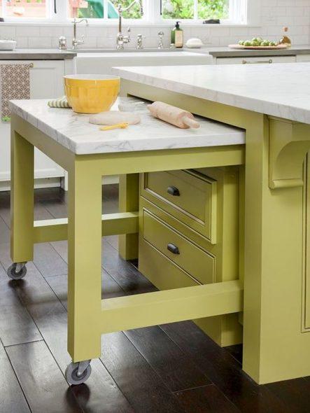 Компактный и выдвижной стол