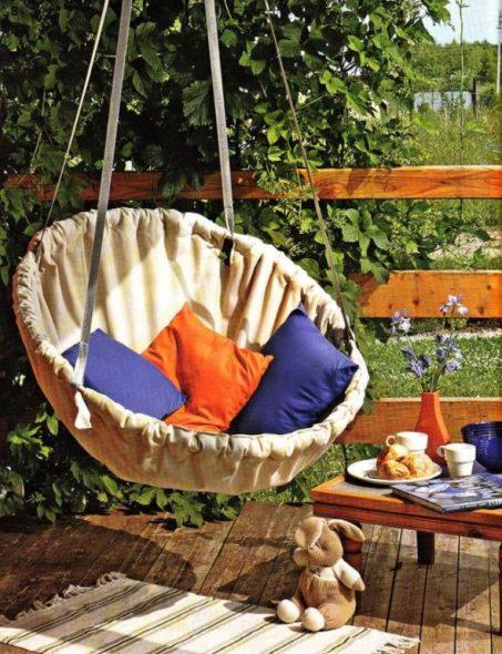Кресло-гамак на жёстком каркасе