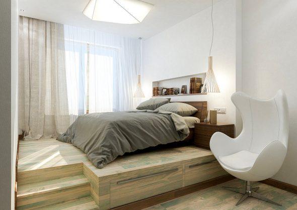 Кровать-подиум стоит дороже обычного варианта