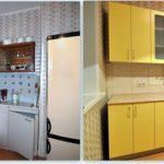 Кухня после замены фасадов и столешницы