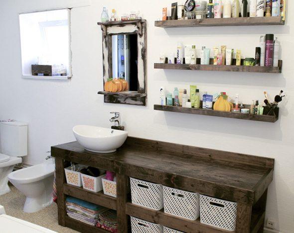 Мебель в ванную, сделанная своими руками