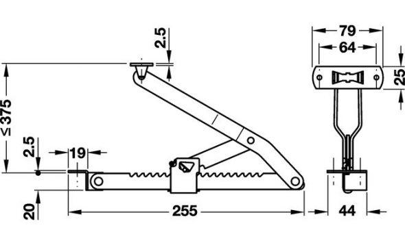 Механизм с ручным подъемом