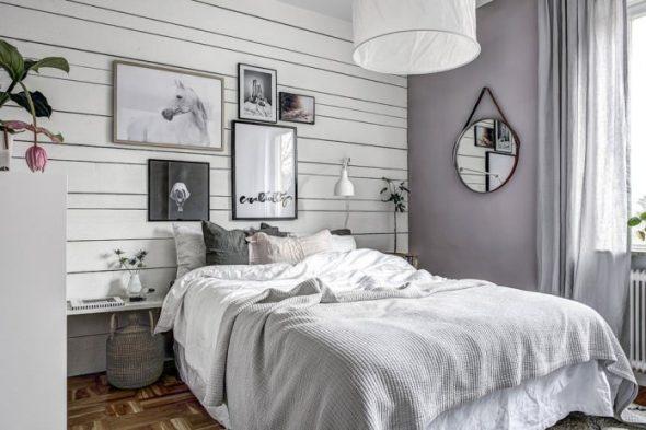Минимум мебели в маленькой спальне