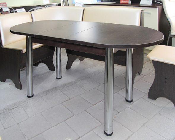 Обеденный стол раздвижной овальный