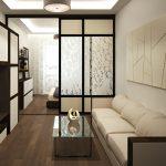 Оформление спальни-гостиной в одной цветовой гамме