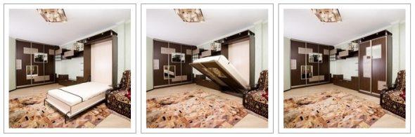 Откидные кровати горизонтального раскладывания