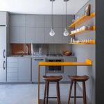 Открытые полки для декора кухни