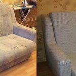 Перетяжка небольшого дивана в домашних условиях