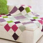 Плед ручной вязки добавит уюта и тепла в интерьере