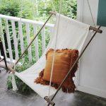 Подвесное кресло из ткани своими руками