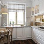 Полукруглый стол для очень маленькой кухни
