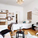 Расположение кровати и дивана без зонирования