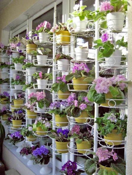 Распорная подставка с цветочной композицией