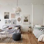 Размещение спальни и гостиной в одной комнате
