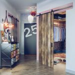 Шкаф для гардеробной в стиле лофт