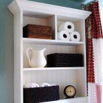 Шкаф с открытыми полками для ванной