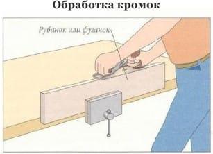Обработка кромок досок