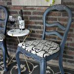 Сиденье с вензелями для отреставрированых стульев