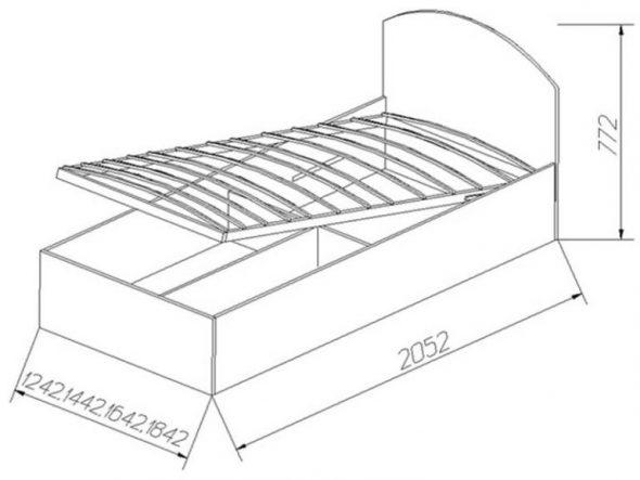 Схема каркаса кровати