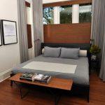 Современный вариант интерьера маленькой спальни