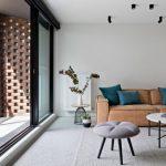 Спокойная сдержанная гостиная в стиле минимализм