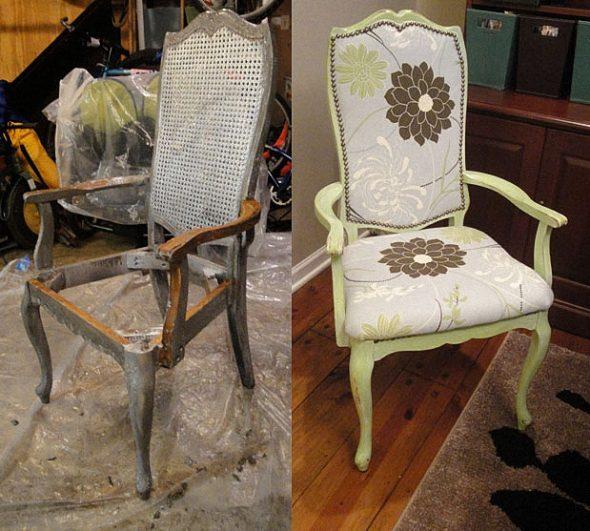 Старый потертый стул