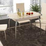 Стеклянный стол-трансформер