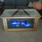 Стеклянный столик с подсветкой