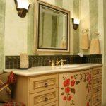 Тумба в этно стиле для ванной