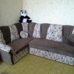 Угловой диван после обивки флоком своими руками