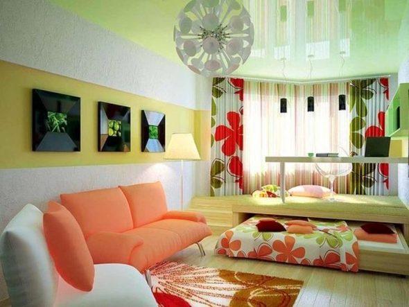 В квартире с низкими потолками вариант кровати