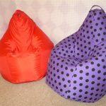 Яркие кресла-мешки своими руками
