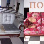 Яркий цветочный диван в новом виде