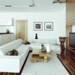 Белый секционный диван