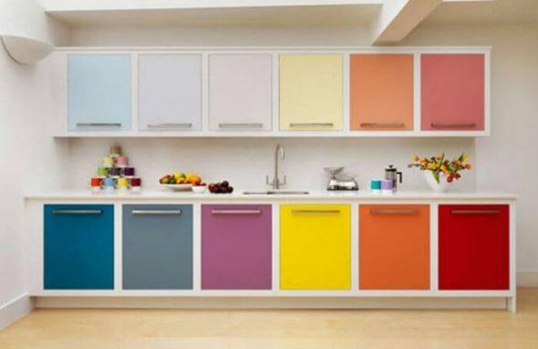 Цвет мебели на кухне